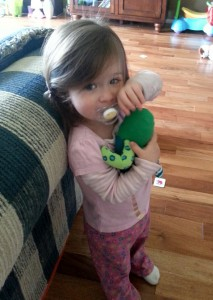 Lydia with Green Socktopus