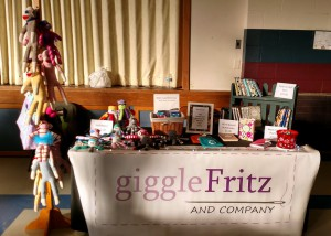 giggleFritz and Co. Booth - St. Ann's Holiday Gift Fair